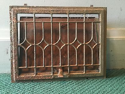 """Vintage Floor Wall Heat Register Metal Vent Heater Grate Grill Cover 15"""" X 9"""""""