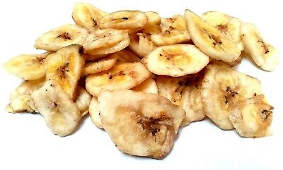 Banana Chips Dried A Grade Premium Quality Free UK P&P