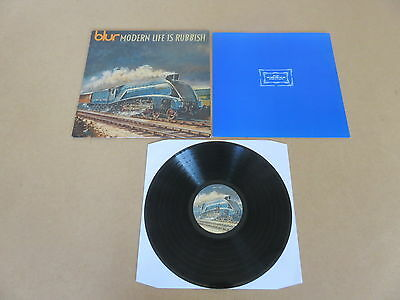 BLUR Modern Life Is Rubbish LP RARE 1993 ORIGINAL UK 1ST PRESSING & INNER SLEEVE