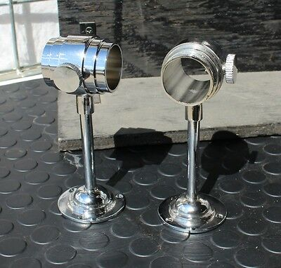 Pair of new horse drawn extra heavy duty stainless steel carriage lamp mounts