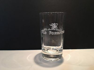 """Old Forester Finest American Bourbon Whisky Glass - 4 1/4"""" Tall"""