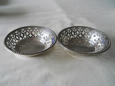 Two Sterling Bon Bon Nut Dishes