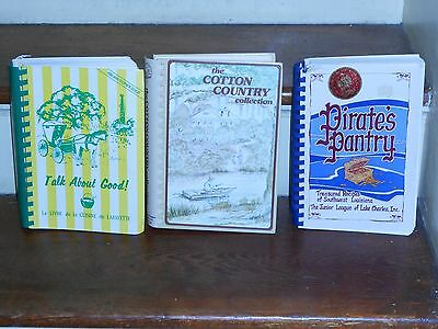 *lot Of 3 Vintage Best Of Louisiana  Local Cook Books *la Jr Leagues *southern