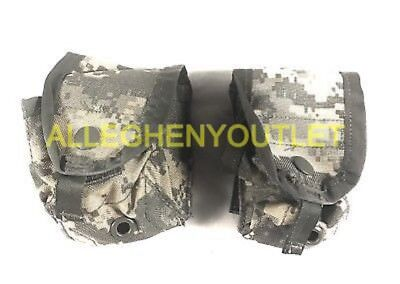 Lot of 2 US Military Hand Grenade Utility Pouch ACU Molle II EXCELLENT