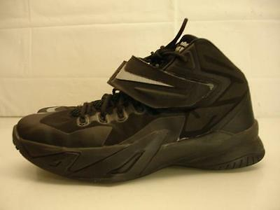 0ce1d5b34d4 Nike Soldier VIII GS Lebron Black Basketball Shoes 653645-004 Boys Youth 7Y  7 40