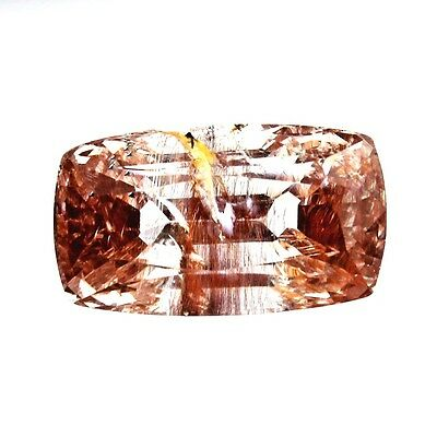12.05 ct Natural Rutilated Topaz Faceted ( Untreated ) Mogok / R8050