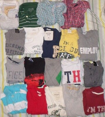 Lot of 19 Shirts Tops Teens/Young Men's Abercrombie Tommy Hilfiger Old Navy H&M