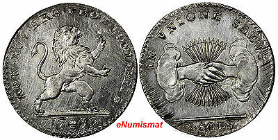Austrian Netherlands Insurrection Coinage Silver 1790 10 Sols SCARCE KM# 46