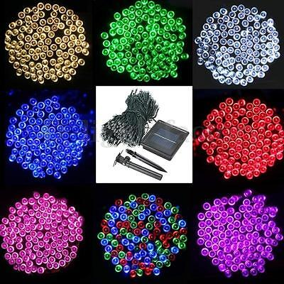 1/2/3/4/500 LED String Solar Powered Fairy Lights Garden Xmas Decor Waterproof