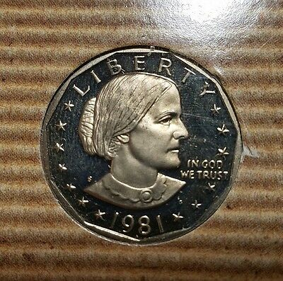 1981-S (Susan B Anthony) US One Dollar Coin with COA