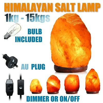 HIMALAYAN SALT LAMP Natural Pink Crystal Rock Dimmer Switch Night Light 1-15Kgs