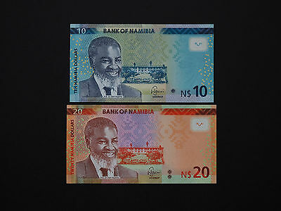 Namibia Banknotes  -  Quality Set Of Two New Issue Notes   * Mint Unc *