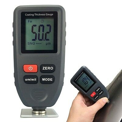 LCD Digital Paint Coating Thickness Auto Tester Measuring Gauge Meter Portable