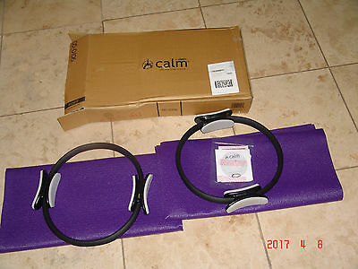 Set of Two Stamina Calm Pilates Magic Circle, Mat And DVD New!