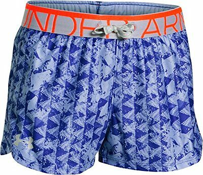 Purple Ice (TG. Medium) Under Armour - Short stampati da ragazza, Bambina, Fitne