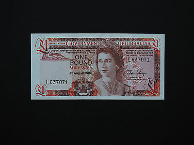 Gibraltar Banknotes  -  Brilliant One Pound Issue Date 1988   * Mint Unc *