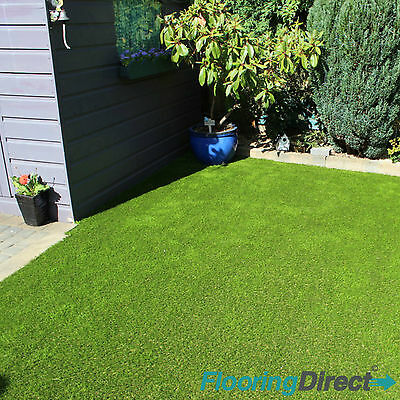 Quality 20mm Artificial Grass Astro Turf  Realistic Fake Lawn Green Garden CHEAP