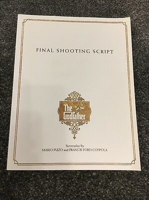 The Godfather - Final Shooting Script - Rare Collectible Merchandise -