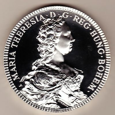 "Austria Maria Theresia Theresa Huge High Relief Proof 5 Oz. 2 1/2"" Silver Medal"
