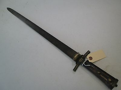 Early German Hunting Hanger Sword With No Scabbard Etched Blade #t69