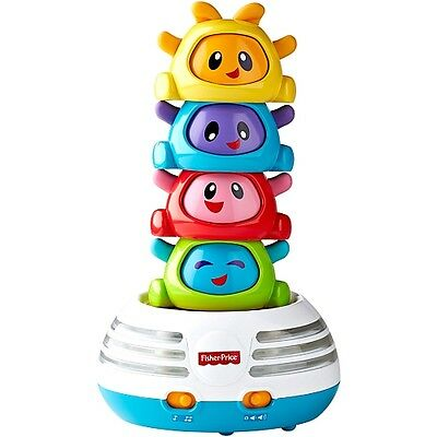 New FISHER-PRICE BRIGHT BEATS BUILD-A-BEAT STACKER LIGHTS UP & PLAYS SONGS
