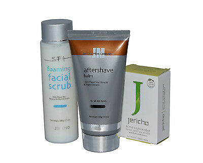 Jericho After Shave Balm & Foaming Facial Scrub + Sulphur Soap Free