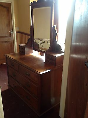 Vintage Antique lovely carved Dressing Table / Chest Of Drawers