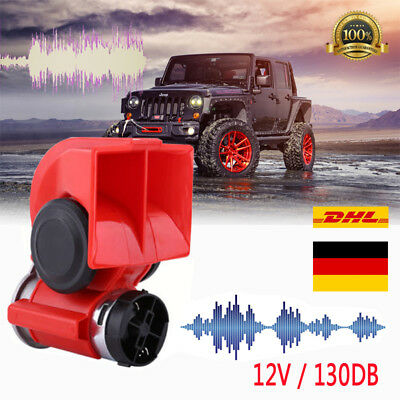 12V Dual Tone Lufthorn Elektrische Hupe Trompete Kompressor Auto LKW Motorrad DE