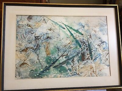 CHINESE ARTIST HSIAO YEN HSU PAINTING Of FISH WATERCOLOR SIGNED DATED