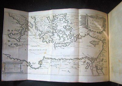 Rare 1745 Illustrated Mythology Utopian Minos Book Maps Plates Courts Legal