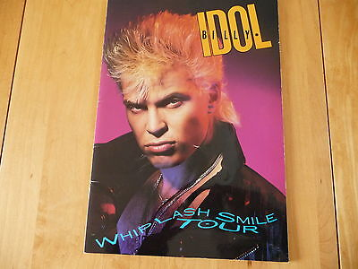 "Billy Idol: «Whiplash Smile Tour» Official Program Tour 1986 9""x 13"" 22pages."