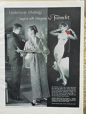 1957 women's girdle bra undercover strategy Skippies by Formfit ad