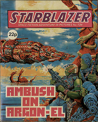 Ambush On Argon-El,starblazer Space Fiction Adventure In Pictures,no.134,1984