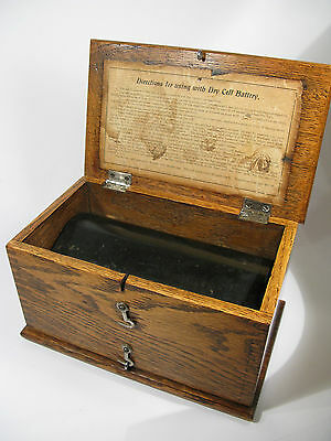"""Antique Early 1900s Electropathic """"Home Medical Apparatus"""" by J.H. Bunnell"""