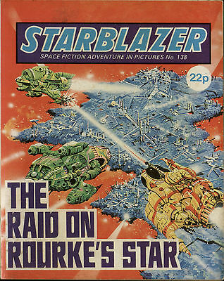 The Raid On Rouke's Star,starblazer Space Fiction Adventure Pictures,no.138,1985