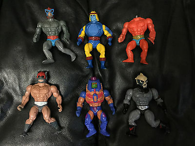 Vintage 80's He-Man Masters of the Universe Lot of 6 Action Figures