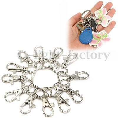 25-100 Metal Swivel Clasps Lanyard Snap Hook Lobster Claw Clasp Jewelry Findings