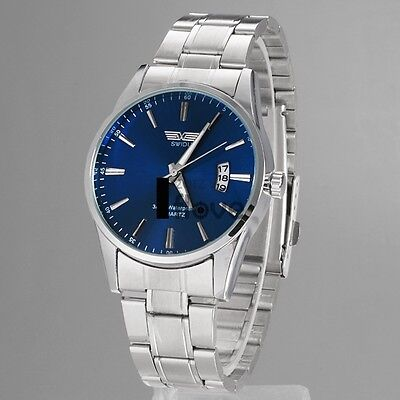 Unisex Men Analog Quartz Stainless Steel Band Dial Casual Wrist Watch Hot Sale