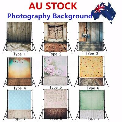 AU 3 x 5FT/ 5 x 7FT Cloth Photography Backdrop Brick Wall Floor Photo Background