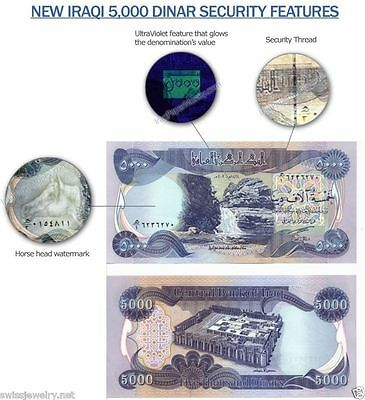 IRAQI DINAR-IQD, 5,000 Bank Note-*UNCIRCULATED-MINT CONDITION*-New Iraq Currency