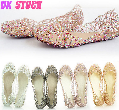New Womens Summer Beach Sandals Ladies Casual Slip On Jelly Flat Shoes Size