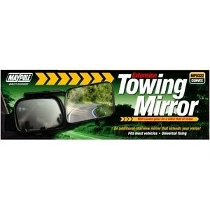 New Maypole Caravan Trailer Towing Mirror Convex Glass Universal Easy Fitting