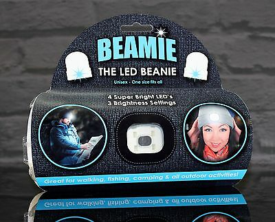 THE BEAMIE Beanie hat with LED Torch GENUINE ORIGINAL Black One size New Gift