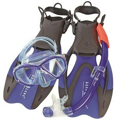 Aqua Lung PROFLEX X ADJ LX JR. 32-35 Junior ABC Tauch-Schnorchel Set +Tasche