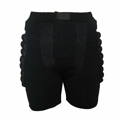 Size M Black Protective Gear Hip Padded Shorts Skiing Skating Snowboard T8Y8