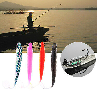1/5pcs Fishing Shad Worm Swimbaits Jig Head Soft Lures Fly Fishing Baits Lures