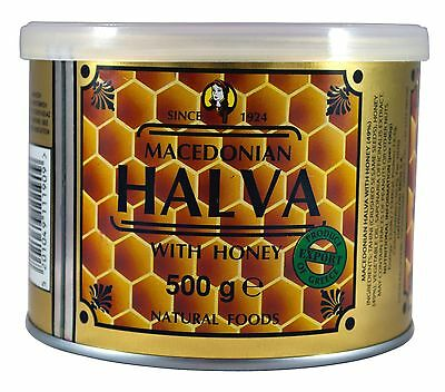 Greek Macedonian Halva With Honey Weight 500 Tin Can Fast Delivery