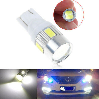 Lampadine Auto T10 W5W 168 194 6LED 5630SMD Cuneo Luce Laterale Posizione Bianca