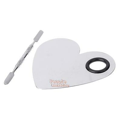 Durable Stainless Steel Mixing Palette Spatula Plate Knife Cosmetic Makeup Tool