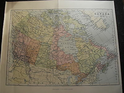 Antique Maps Paper Canada Newfoundland   Pre 1914  100 Years Old